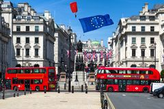 Brexitconcept in Londen stock foto's
