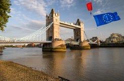 Brexitconcept in Londen stock afbeeldingen
