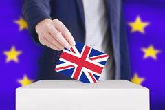 Brexitconcept stemming royalty-vrije stock afbeelding