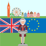 Brexite στο UK Στοκ Φωτογραφίες