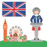 Brexite в Великобритании иллюстрация вектора