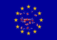 Brexitreferendum het UK het Verenigd Koninkrijk of de terugtrekking van Groot-Brittannië Engeland van E. - Europese Unie, Brits s Royalty-vrije Stock Fotografie
