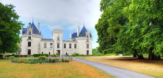 Breze Chateau, France. Nice French chateau from Loire Valley Stock Photography