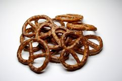Brezel. A lot of salty pretzel Royalty Free Stock Images