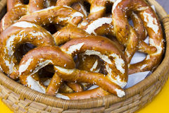 Brezel in trentino. Bread typical gastronomy Christmas in Trentino Royalty Free Stock Photos