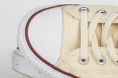 Brezentowego buta szczegół Zdjęcia Stock