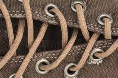 Brezentowego buta szczegół Obrazy Stock