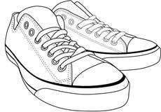 brezentowi buty ilustracja wektor