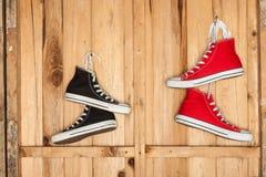 Brezentowi sneakers Fotografia Stock