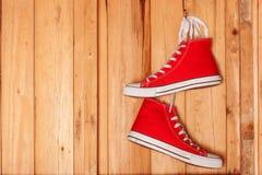 Brezentowi sneakers Zdjęcie Royalty Free