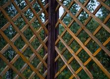 Brezentowy drewniany świntuch składający grilla rhombus deseniowy kąt Obrazy Stock