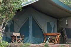 Brezentowy safari namiot w Masai Mara Fotografia Royalty Free