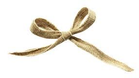Brezentowy tasiemkowy łęk Zdjęcia Royalty Free