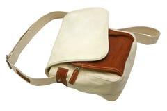 brezentowy torba biel Obrazy Royalty Free