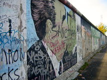 Brezhnev Kissing Honecker on The Berlin Wall Royalty Free Stock Photo