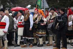 Festival of the Masquerade Games Surova in Breznik, Bulgaria. Royalty Free Stock Photo
