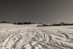 Brezovec hill, Dolny Kubin. View of the broadcasting station on the nearby Brezovec hill in Dolny Kubin Stock Photography