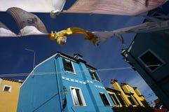 Brezza di Burano Fotografie Stock Libere da Diritti