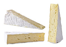 Bri cheese on white background Royalty Free Stock Photos