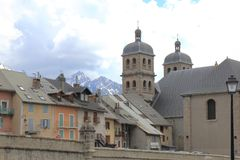 Briancon, Collegiate Church of Notre-Dame-et-St-Nicolas, France Royalty Free Stock Images