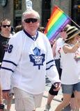 Brian Burke au défilé 2011 de fierté de Toronto images libres de droits