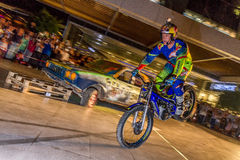 Brian Capper. Trial bike rider Brian Capper at his solo show as a part of Red Bull Sea To Sky Hard Enduro Event. Show took place in Terracity Mall in Antalya Stock Photo