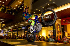 Brian Capper. Trial bike rider Brian Capper at his solo show as a part of Red Bull Sea To Sky Hard Enduro Event. Show took place in Terracity Mall in Antalya Stock Image