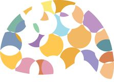 Brian circles. Illustration represents a brain circles on white background vector illustration