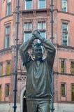Brian Clough Statue royaltyfria foton
