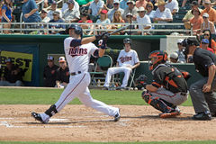 Brian Dozier av Minnesota Twins arkivfoton