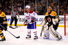 Brian Gionta and Tuukka Rask (NHL Hockey) Royalty Free Stock Image