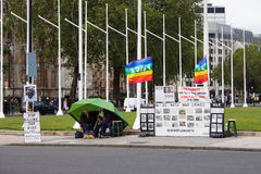 Brian Haw Peace Camp. London, United Kingdom, June 2012 Royalty Free Stock Photo
