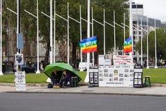 Brian Haw Pokoju Obóz Zdjęcie Royalty Free