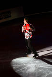 Brian Joubert with lovely heart (France) Royalty Free Stock Image