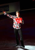 Brian Joubert with lovely heart (France) Stock Image