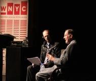 Brian Lehrer se entrevista con a Tom Kean Fotos de archivo libres de regalías