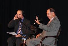 Brian Lehrer und Tom Kean Lizenzfreies Stockbild