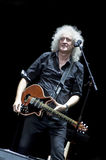 Brian May from Queen performs with Kerry Elils during Acoustic by Candlelight Tour at the Republic Palace on March 21, 2014 Stock Photography