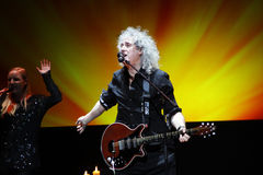 Brian May from Queen performs with Kerry Elils during Acoustic by Candlelight Tour at the Republic Palace on March 21, 2014 Stock Images