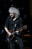 Brian May from Queen performs with Kerry Elils during Acoustic by Candlelight Tour at the Republic Palace on March 21, 2014 Royalty Free Stock Images