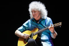 Brian May from Queen performs with Kerry Elils during Acoustic by Candlelight Tour at the Republic Palace on March 21, 2014 Stock Photo