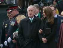 Brian Mulroney at Jim Flaherty State Funeral in To Stock Photos