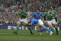 Brian O'Driscoll,Ireland V Italy,6 Nations Rugby Royalty Free Stock Photography