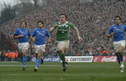 Brian O'Driscoll,Ireland V Italy,6 Nations Rugby Stock Image