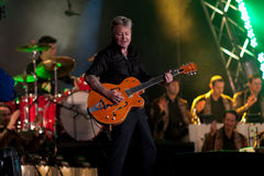 Brian Setzer Orchestra opens Montreal Jazz Festiva. The 31st edition of the Montreal Jazz Festival launches with Brian Setzer and his Orchestra opening the event Stock Image
