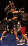 Brian Stann UFC 125 bij MGM open training 12/30/2010 Stock Afbeelding