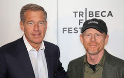 Brian Williams und Ron Howard Stockfotografie