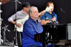 Brian Wilson zespół wykonuje w koncercie przy Primavera dźwięka 2016 festiwalem obraz stock