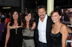Briana Evigan,Greg Evigan. Pamela Serpe and Greg Evigan with Briana Evigan and family at the Los Angeles Premiere of 'Sorority Row'. Arclight Hollywood royalty free stock images