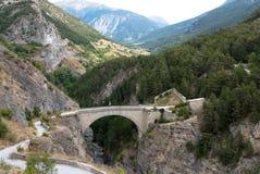 Briancon Frankrike. Pont d'Asfeld. Royaltyfri Foto